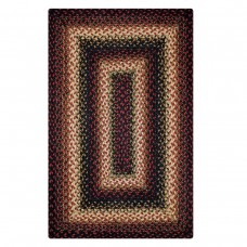 Prescott Black - Burdundy Jute Braided Rugs