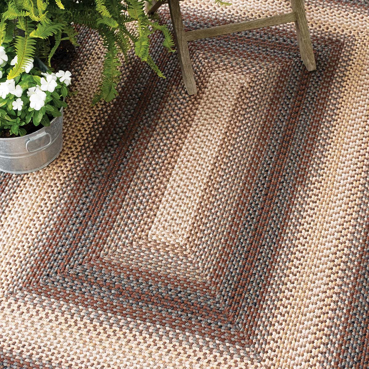 Buy Driftwood Brown Ultra Durable Braided Rugs Online