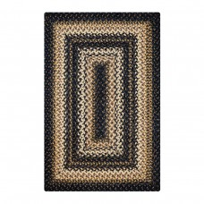 Kilimanjaro Black - Cream Jute Braided Rugs