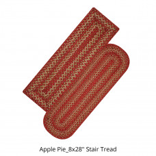 Apple Pie Red Jute Stair Tread or Table Runner