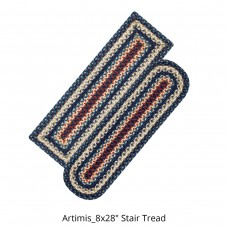Artemis Blue Jute Stair Tread or Table Runner