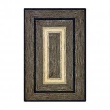 Manchester Black - Beige Jute Braided Rugs
