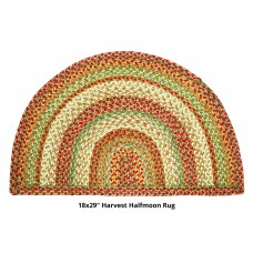"18 x 29"" Half Moon Harvest Jute Braided Rugs"