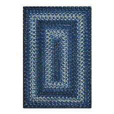 Navy Denim Ultra Durable Braided Rugs
