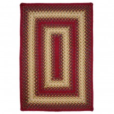 Santa Clara Red Ultra Wool Braided Rugs