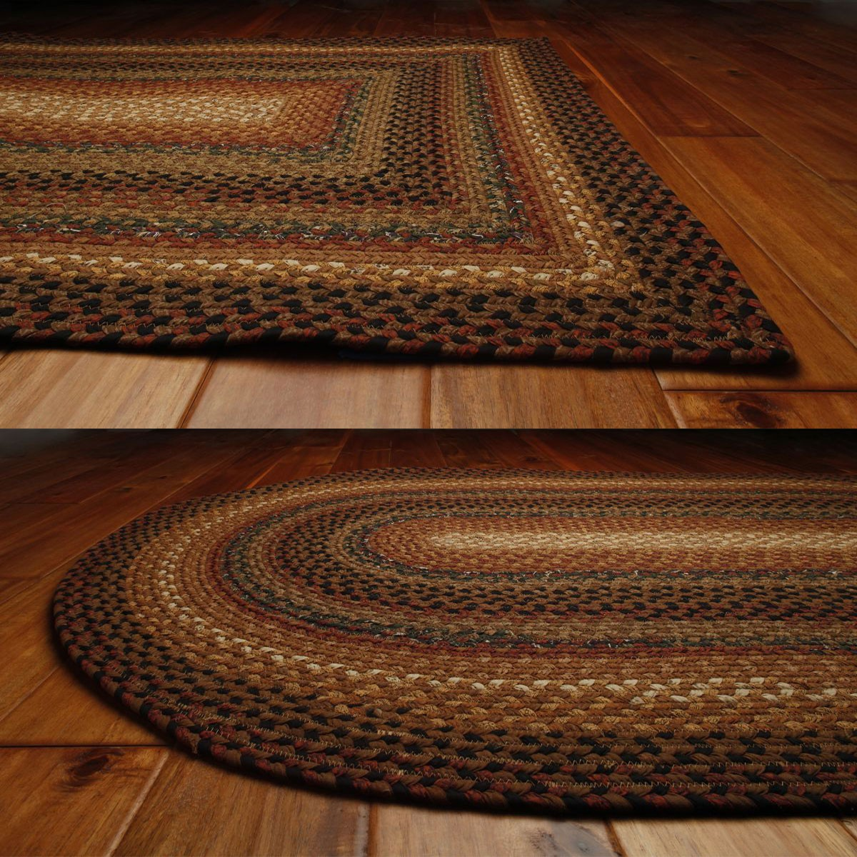Peppercorn Cotton Braided Rugs
