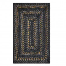 Raven Black Grey - Mustard Jute Braided Rugs