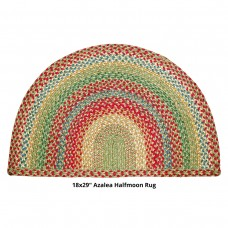 "18 x 29"" Half Moon Azalea Jute Braided Rugs"