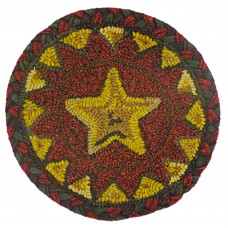 "15"" x 15"" Star Point Red Chair Pad"