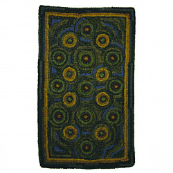 """15""""X 25"""" In Circles Table Hand Hooked Table Runners"""
