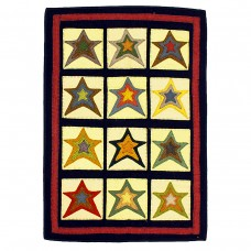 Star Patch Sampler Penny Rugs