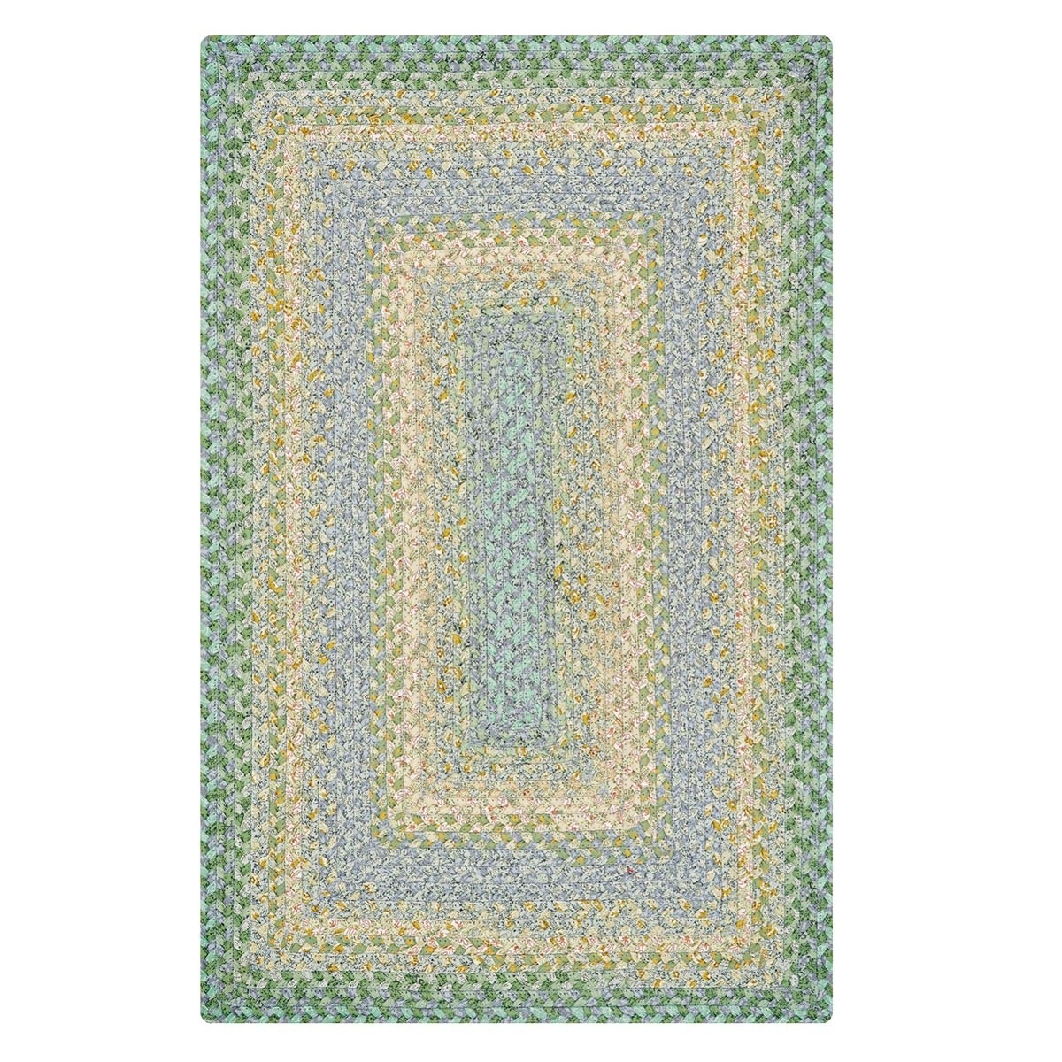 Buy baja blue cotton braided rugs online homespice for Braided rugs