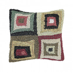 12 x 12'' Squares Rustic Red Pillow