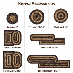 Kenya Brown Jute Braided Accessories