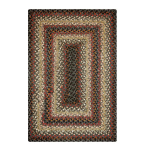 Buy Cocoa Bean Black Grey Cotton Braided Rugs Online