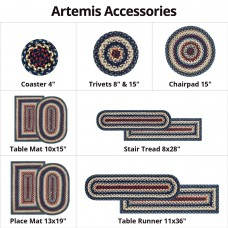 Artemis  Blue Jute Braided Accessories