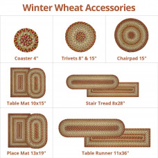 Winter Wheat Green - Red Ultra Wool Braided Accessories