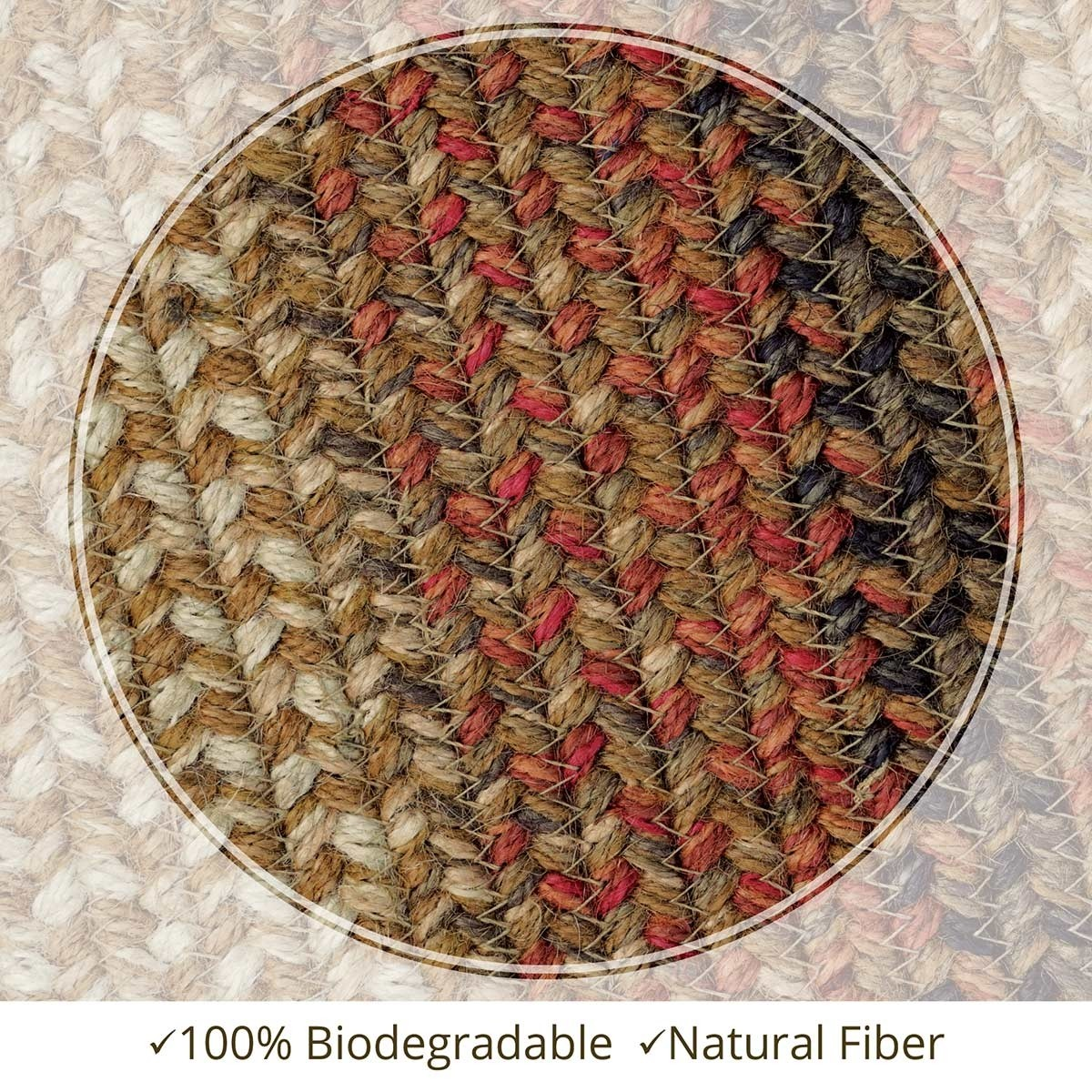 Buy Russet Brown Beige Jute Braided Rugs Online Homespice
