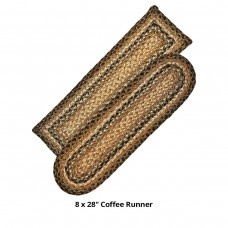 Coffee  Jute Stair Tread or Table Runner