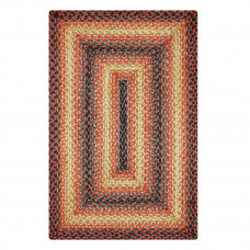 Fireside Orange - Black Jute Braided Rugs