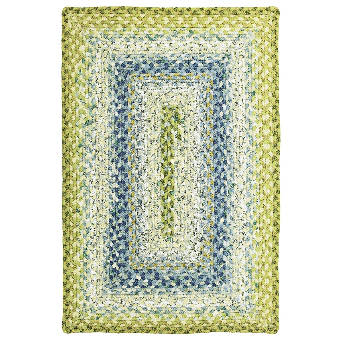 Seascape cotton braided rugs for Braided rugs