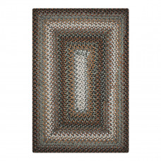 Midnight Moon Brown - Grey Ultra Durable Braided Rugs