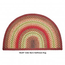 "18 x 29"" Half Moon Cider Barn Jute Braided Rugs"