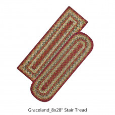 Graceland Multi Color Jute Stair Tread or Table Runner