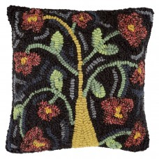 Lily Handcrafted Hooked Wool Pillow