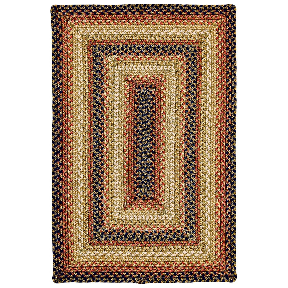 Buy San Antonio Black - Burdundy Ultra Wool Braided Rugs ...