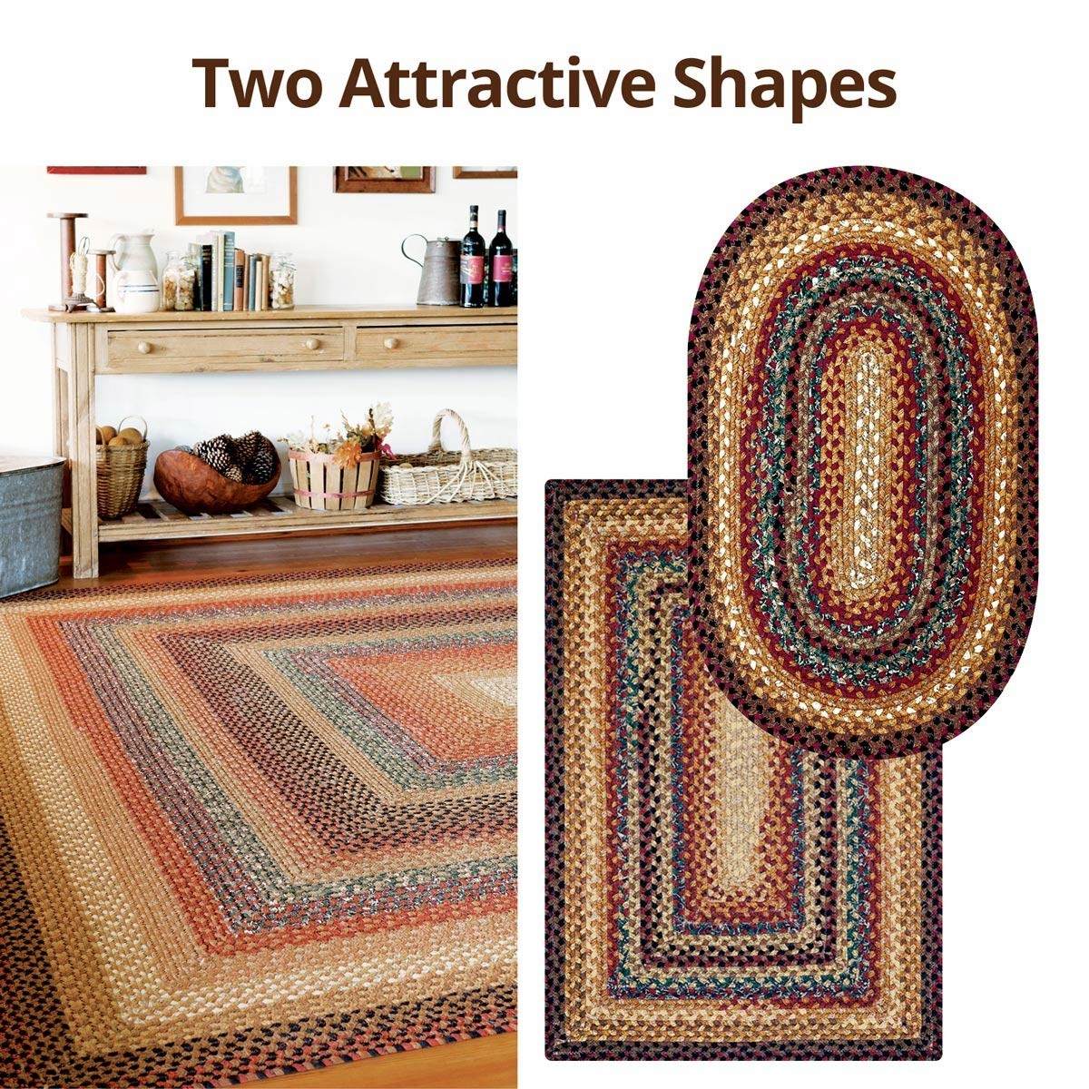 Buy Peppercorn Multi Color Cotton Braided Rugs Online