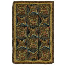 "Kaleidoscope Hand Hooked Table Runners 13"" x 29"""