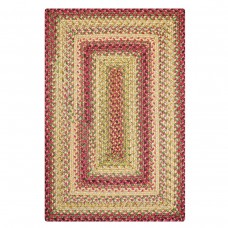 Barcelona Gold - Burgundy Ultra Durable Braided Rugs