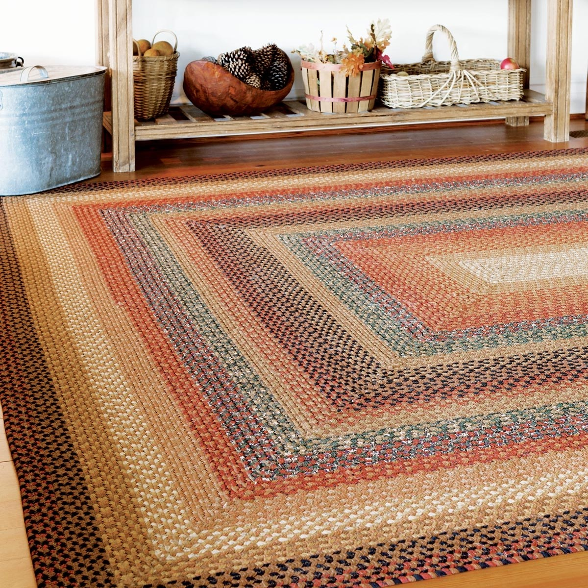 Braided Rug For Living Room: Buy Peppercorn Multi Color Cotton Braided Rugs Online