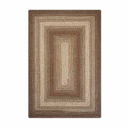 Hot Chocolate Brown Wool Braided Rugs