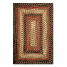 Russet Brown - Beige Jute Braided Rugs