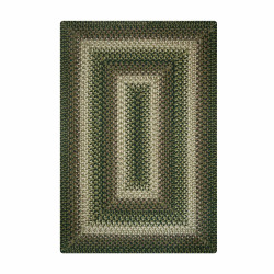 Northwoods Green - Brown Ultra Wool Braided Rugs
