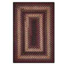 Montgomery Black - Burdundy Ultra Durable Braided Rugs