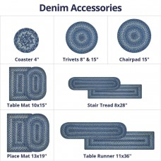 Denim Blue Jute Accessories