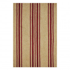 Baker Farmhouse Beige - Red Jute Braided Rugs