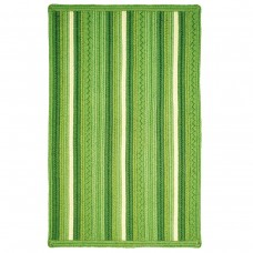 Portsmouth Stripe Green Ultra Wool Braided Rugs
