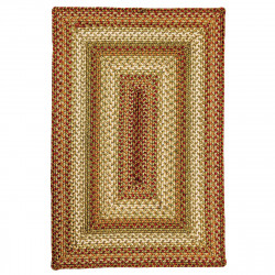 Winter Wheat Green - Red Ultra Wool Braided Rugs