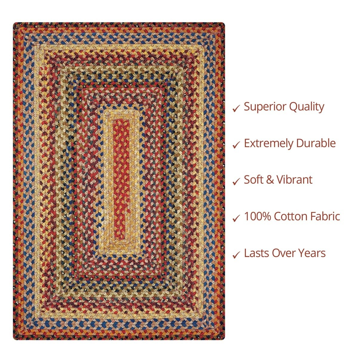 Buy Biscotti Multi Color Cotton Braided Rugs Online Homespice