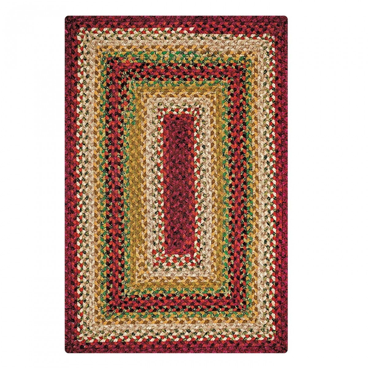 Buy Santa Fe Sunrise Multi Color Cotton Braided Rugs