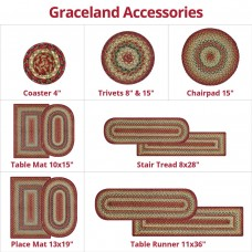 Graceland Multi Color Jute Braided Accerrosies