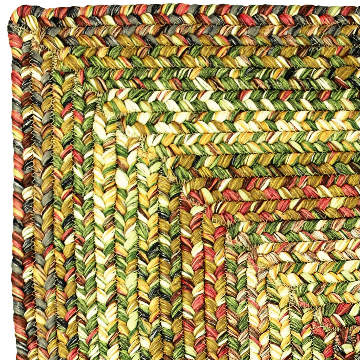 Hooked Chair Pads Home / Rugs / Braided Rugs / Ultra-Durable Braided Rugs / Rainforest ...