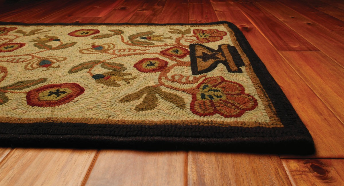 2 X 3 Potted Flower Hooked Rugs