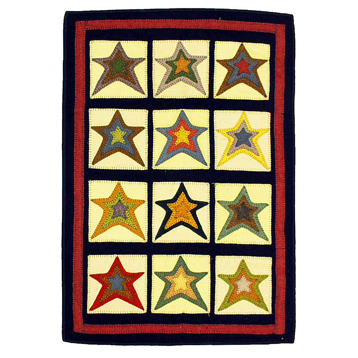 Buy Star Patch Sampler Penny Rugs Online Homespice