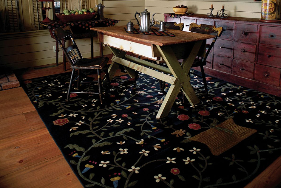 Busy-As-A-Bee-Country-Primitive-Penny-Rugs-Room
