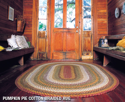 Timber Trail Country Primitive Jute Braided Rug